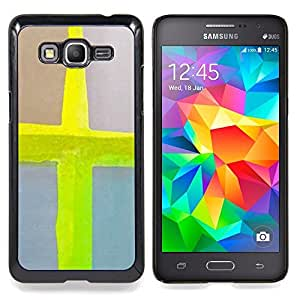 - Cross Jesus Neon Yellow Watercolor - - Snap-On Rugged Hard Cover Case Funny HouseFOR Samsung Galaxy Grand Prime G530H G5308