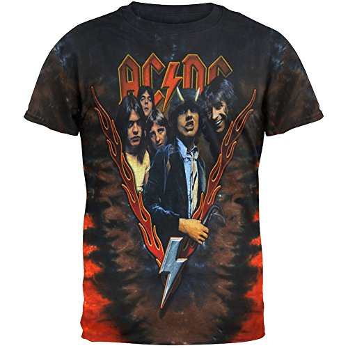 - AC/DC - Highway To Hell Tie-Dye T-Shirt - Large