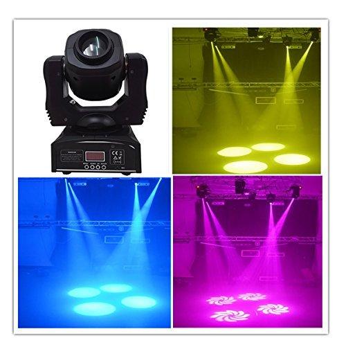 Gobo Head (Wonsung 60W LED gobo Moving Head Lighting spot lighting dj set gobo christmas lights dj light projector for bar party event)