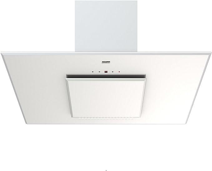 KRONA STEEL LINA 900 WHITE - Campana extractora de plasma sin cabeza (90 cm, 18 ledes, cristal tallado facetado, control táctil, 40 dB), color blanco: Amazon.es: Bricolaje y herramientas