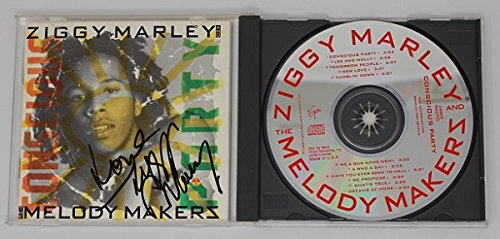 Ziggy Marley Conscious Party Signed Autographed Cd Compact Disc - Soho Gift Shop