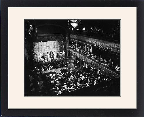 Victorian Music Hall Costumes (Framed Print Of Old Time Music Hall Show)