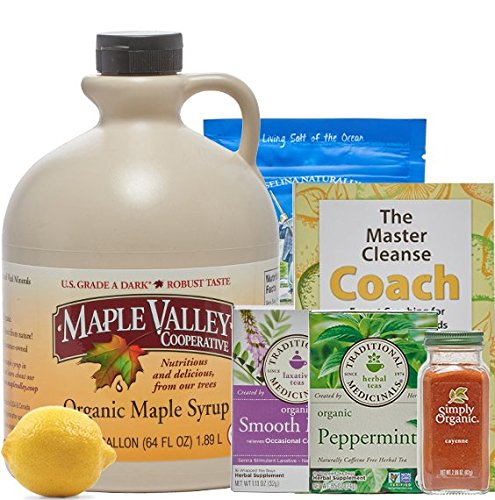 Maple Valley 10 Day Organic Master Cleanse Lemonade Detox/Kit with Peter Glickman Master Cleanse Coach Book Master Cleanse Kit