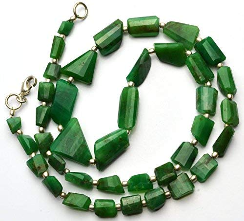 1 Strand Natural Chrysoprase Facet Nugget Beads 21