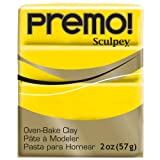 Sculpey PE02 5572 Oven Bake Clay premo!-Cadmium Yellow Hue