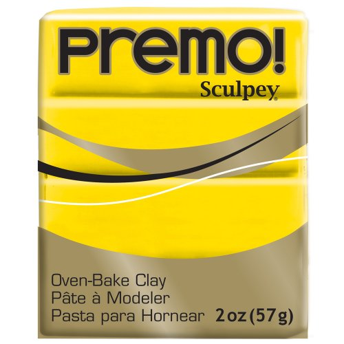 (Premo Sculpey Polymer Clay 2 Ounces-Cadmium Yellow (PE02 5572))