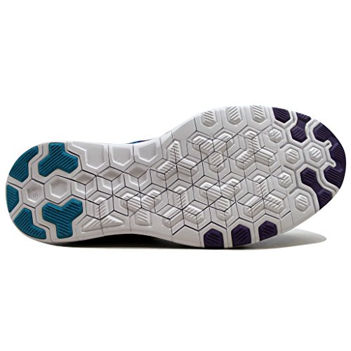 Nike Vrouwen Vrije 5.0 Tr Fit 5 Prt Db Ultraviolet / Blauwe Lagune-zwart 839122-540 Schoen