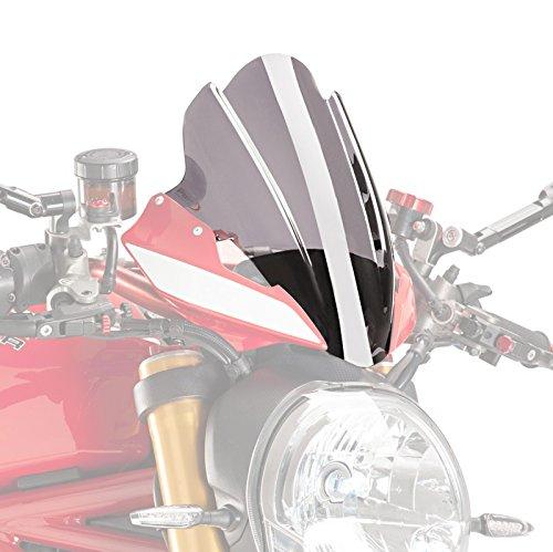 Puig Touring Windscreens - Windscreen Touring Ducati Monster 1200 R 16-18 Puig Naked New Generation light smoke