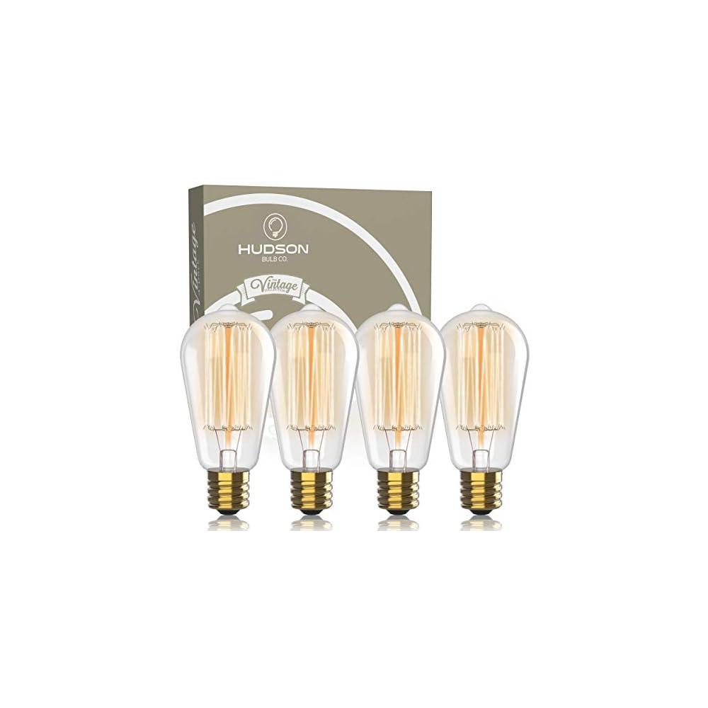 Vintage Incandescent Edison Light Bulbs: 60 Watt, 2100K Warm White Lightbulbs - E26 Base - 230 Lumens - Clear Glass…