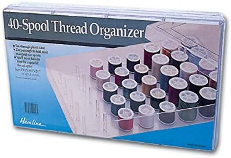 Hemline - Caja organizadora de hilo de coser (40 bobinas): Amazon.es: Hogar