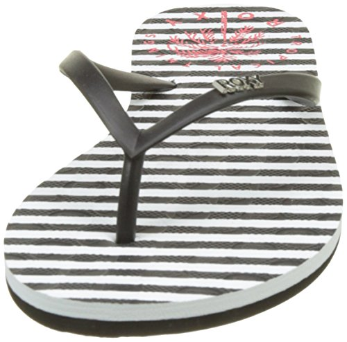 Viva Tongs White Roxy True Black Femme Red Stamp Multicolore pqnYwYdRv