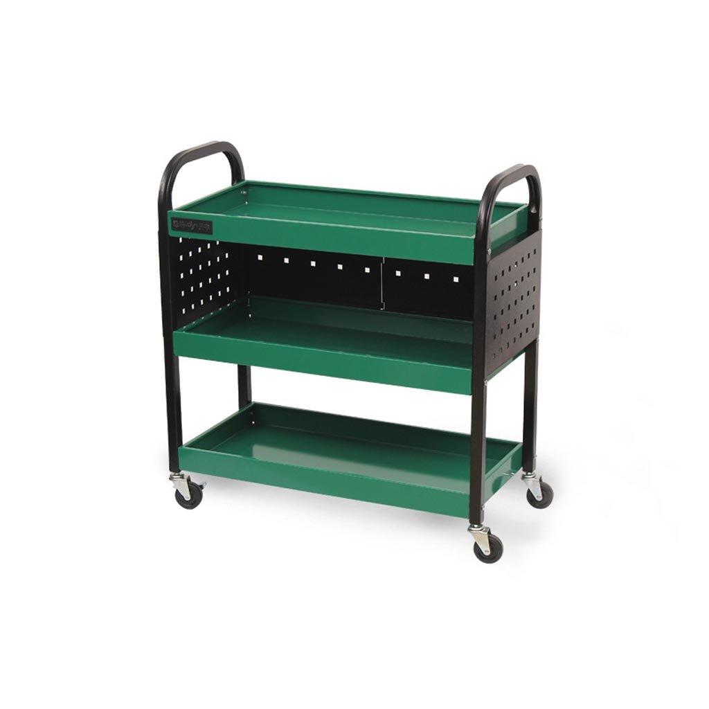 トロリーラック トロリーラック - モバイルラック車の修復ツールラックの修復ツール多機能パーツカート3層 (色 : Green, サイズ さいず : 75 * 35 * 80cm) B07JN4BWH5 Green 75*35*80cm