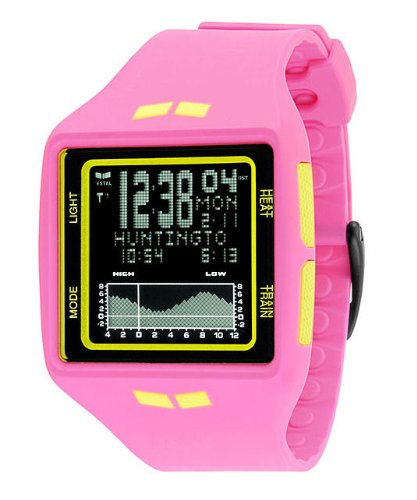 Vestal Unisex BRG019 Brig Tide & Train Digital Display Quartz Pink Watch