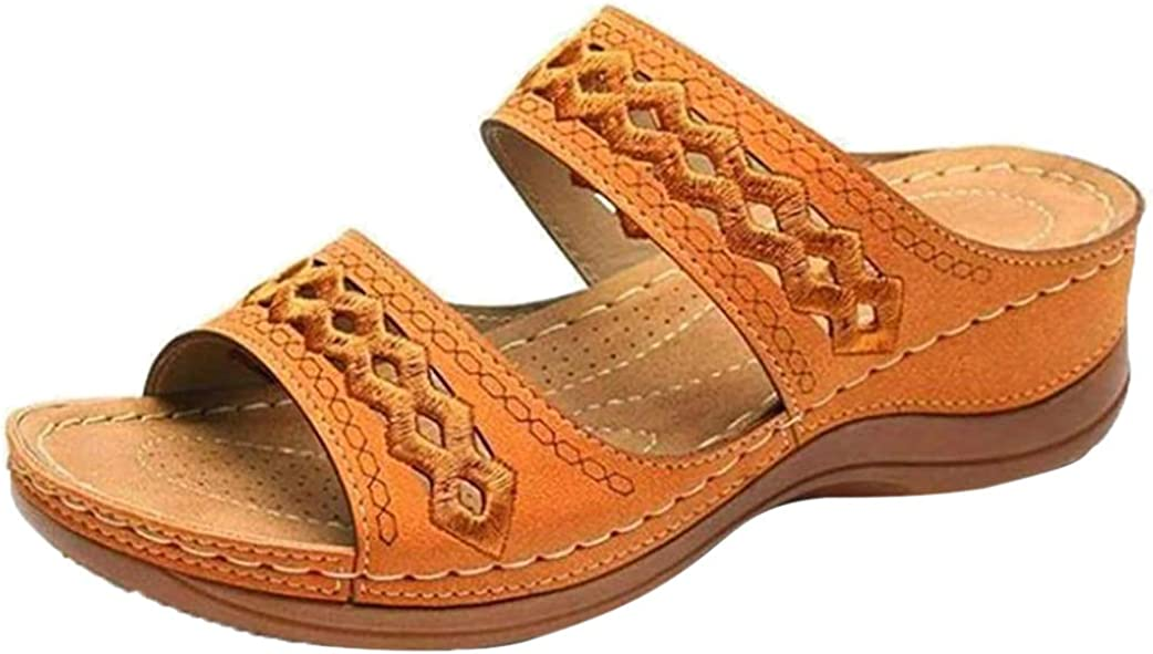 QIAGE Women's Thick Sole Sandals