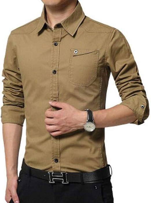 ZJEXJJ Camisas para Hombres Camiseta de Manga Larga Ropa Interior Holgada y cómoda Suave y cómoda
