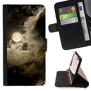 Cielo Nubes Noche Estrellas Negro Blanco- Modelo colorido cuero de la carpeta del tirón del caso cubierta piel Holster Funda protecció Para Apple (5.5 inches!!!) iPhone 6+ Plus / 6S+ Plus