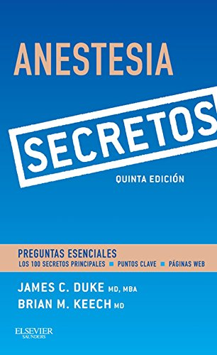 Descargar Libro Anestesia. Secretos James Duke