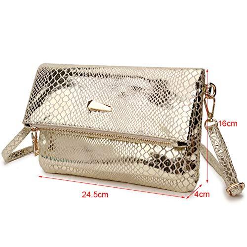 Souple D'enveloppe Gold Xingf Carré Portable Pour Femme Décontractée Fashion Petit Bandoulière À Téléphone Sac EqgqRTp