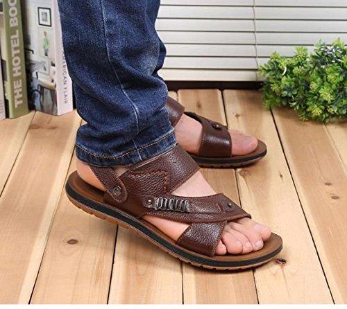 Xing Lin Sandalias De Hombre Los Hombres Sandalias De Verano De Hombres Transpirable Zapatos Casuales Anti-Deslizamiento Suave Del Tendón Sandalias De Playa Y Zapatillas, De 43 Años, Brown [86521]