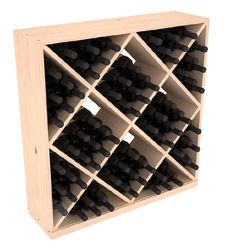 Wine Racks America Ponderosa Pine 82 Bottle Solid Diamond Cube. 13 Stains to Choose ()