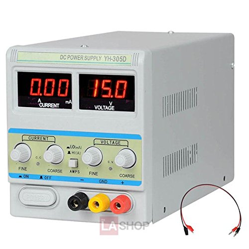 Digital 0-30V 0-5A Variable Lab Precision DC Power Supply AC Input 110v Converter Soldering Station Electric Equipment Unit for Electronic Scientific Automotive (Lab Electronic Equipment compare prices)
