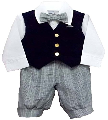 Infant Toddler Boys 5 Pc Vintage Holiday Long Knickers Outfit (Boys Knicker)