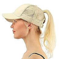 Alljoin Ponytail Baseball Cap Hat Ponycap Messy High Bun Ponytail Adjustable Mesh Trucker Baseball Cap Hat For Women Men Girl