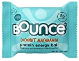Cheap Bounce Natural Protein Energy Ball, Gluten-Free Vegetarian Snack with 8g of Whey Protein – Coconut Macadamia, 1.41 Ounce (Pack of 12)