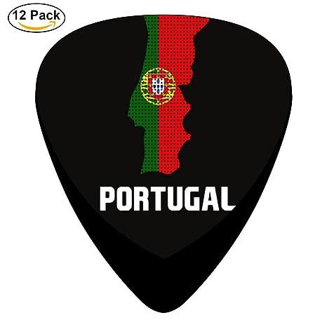 Púas de guitarra con bandera portuguesa de Portugal envejecida ...