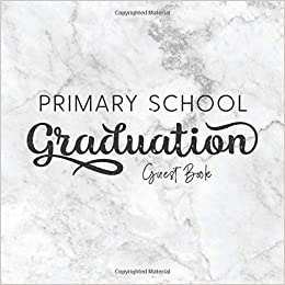 primary school graduation guest book marble guestbook