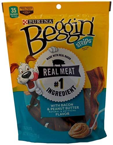 Purina Beggin Strips Bacon Peanut Butter Dog Treats – Pack of 3, 6 Oz. Ea.