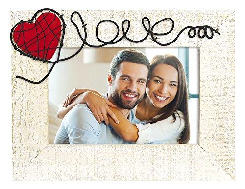 ZEP ws3946Annamaria Cornice portafoto Legno Bianco/Beige/Rosso 10x 15cm