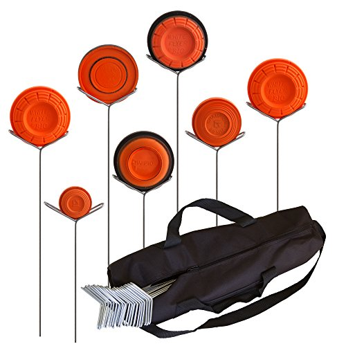 Clay Pigeon Target Holders Pack of 20 with Carry Bag - Will Fit Any Clay Targets - Made in USA (Fit Target A Archery)