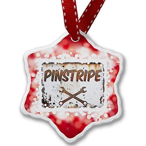 VinMea Christmas Ornament Rusty Old Look car Pinstripe, red Xmas Decorative Hanging Ornament (Christmas Pinstripe Ornaments)