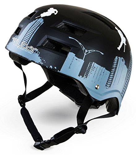 Flybar Protective Multi-Sport Adjustable Helmet with 12 Wide Vents (Flyscraper, Small / Medium) - Youth Size 9 Hockey Skates