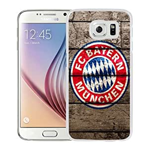 Fashionable And Unique Designed Cover Case For Samsung Galaxy S6 With FC Bayern Munich Logo_White Phone Case