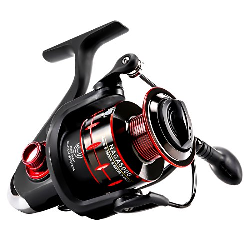 SeaKnight NAGA Fishing Reel 11BB Smooth Spinning Fishing Reels with Spare Spool Max Drag 16.6 Lbs