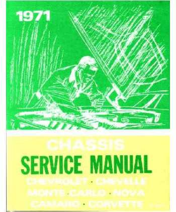 1971 Camaro Chevelle Corvette Monte Nova Service Manual