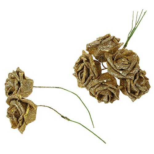 Home-Decor-7-Foam-Rose-Artificial-Flower-Glitter-Bridal-Bouquet-Home-Wedding-Decoration-Gold-Foam-Bouquet-Flowers-Glitter-Tree-Heads-Artificial-Garland-Rose-Flower-Vase-Pink-Lamp