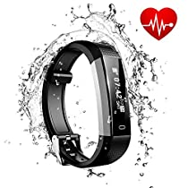 ASITA Activity Tracker Bracelet Band Bluetooth Fitness Tracker Watches IP67 Waterproof Smart Watch Pedometer with Heart Rate Calories Gymnastics Android iOS Sport Wristband for Men/Women/Boy/Girl