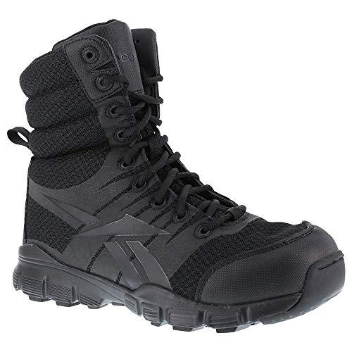 Reebok Men's Dauntless 8' Tactical Boots with Side Zip, Black, Size 11 Wide