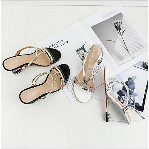 Deux 39 EU à Talons Femmes Méthodes Gold Talons Gold à d'usure Transparent Cristal Sandales Compensés beauty Color Sandales Sandales pour love 1 Size Angel en 3 WSv1q6c