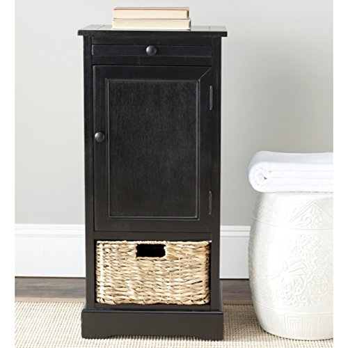 Safavieh American Homes Collection Raven Distressed Black Tall Storage Unit