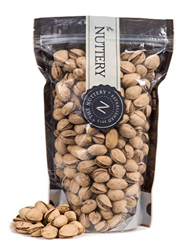 The Nuttery Freshly Roasted Salt and Pepper Pistachio Nuts - 16 ounce Pouch bag (1lb) (Pistachios Black Pepper)