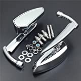 Motorcycle Chromed Spear Blade Mirrors Fit Harley Davidson Sportster Dyna Softail