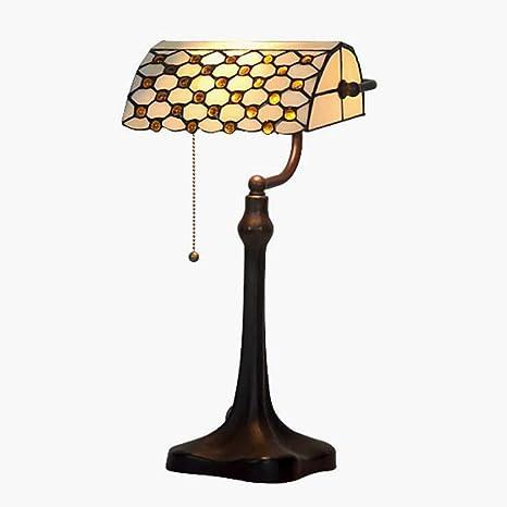 KKY-ENTER Retro lámpara de mesa de luz cálido dormitorio ...
