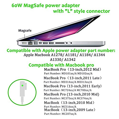 MOFANG FAMILY Replacement Macbook Pro Charger, 60W Magsafe L-Tip Connector Power Adapter Charger for Macbook and 13 inch Macbook Pro A1181 A1278 A1184 A1330 A1342 - Before Mid 2012 by MOFANG FAMILY (Image #2)