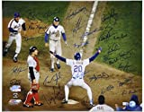 #8: 1986 New York Mets - Johnson At Home Plate - Autographed 16