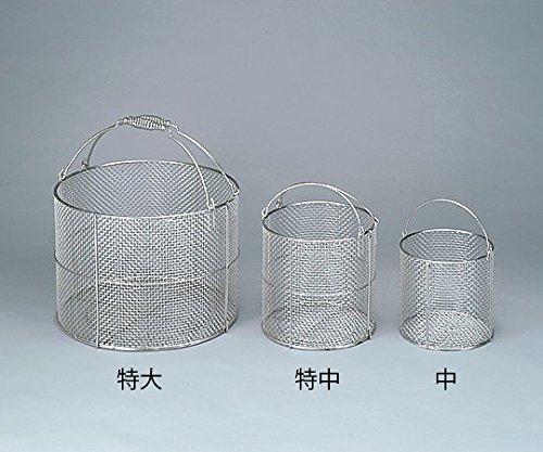 三和化研工業4-097-01ステンレス丸型洗浄カゴ特大φ400×300mm   B07BD339TV