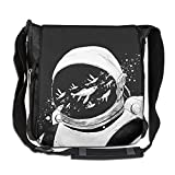 Men Women Classic Whale Swim Across Space Messenger Bag Casual Crossbody Bag Shoulder Bag College Bag For Outdoor Workout Travel